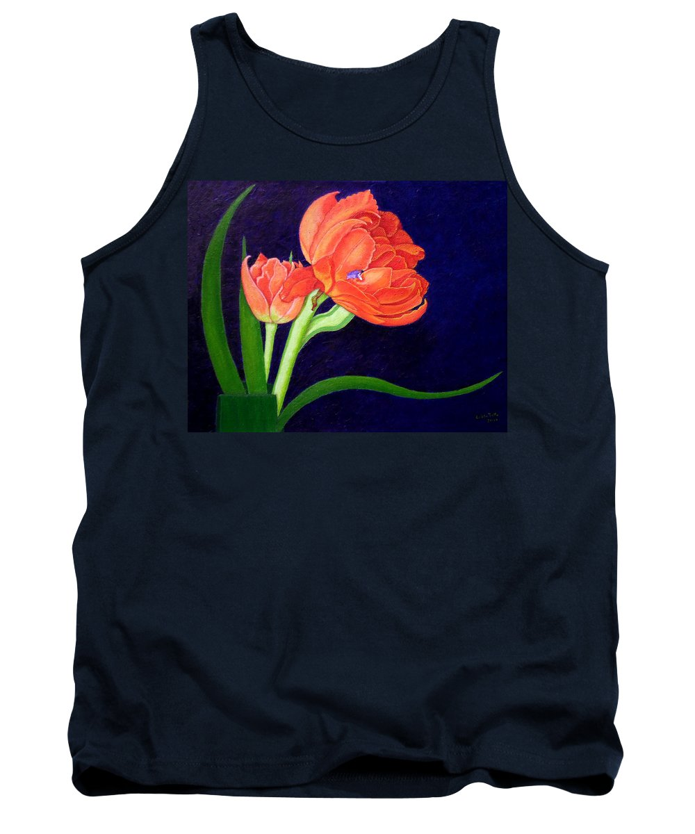 Bloom Tank Top featuring the painting Attention. I Am Here by Madalena Lobao-Tello