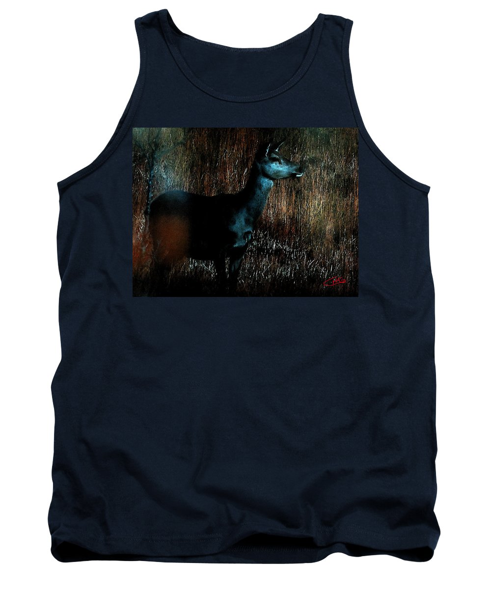 Colette Tank Top featuring the painting Autumn Forest Life by Colette V Hera Guggenheim