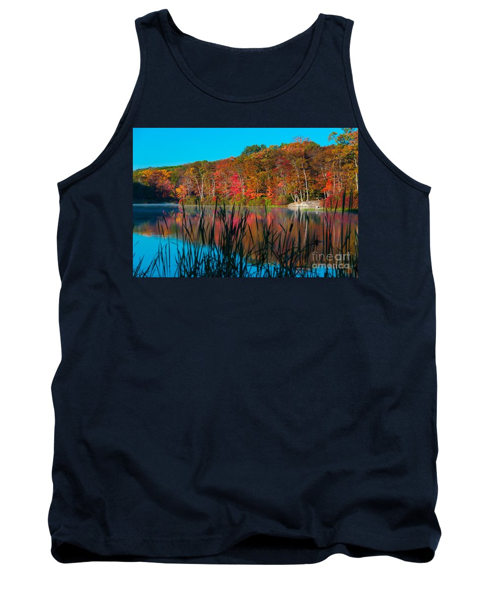 Harriman State Park Tank Top featuring the photograph Autumn Lake by Anthony Sacco