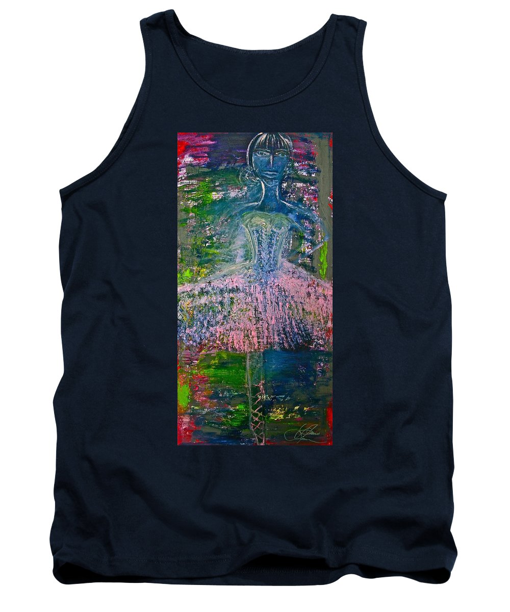Art Tank Top featuring the painting Ballerina Nutcracker by Jamie Lawrence