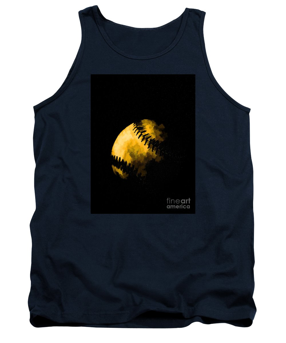 Base Tank Top featuring the photograph Baseball The American Pastime by Edward Fielding