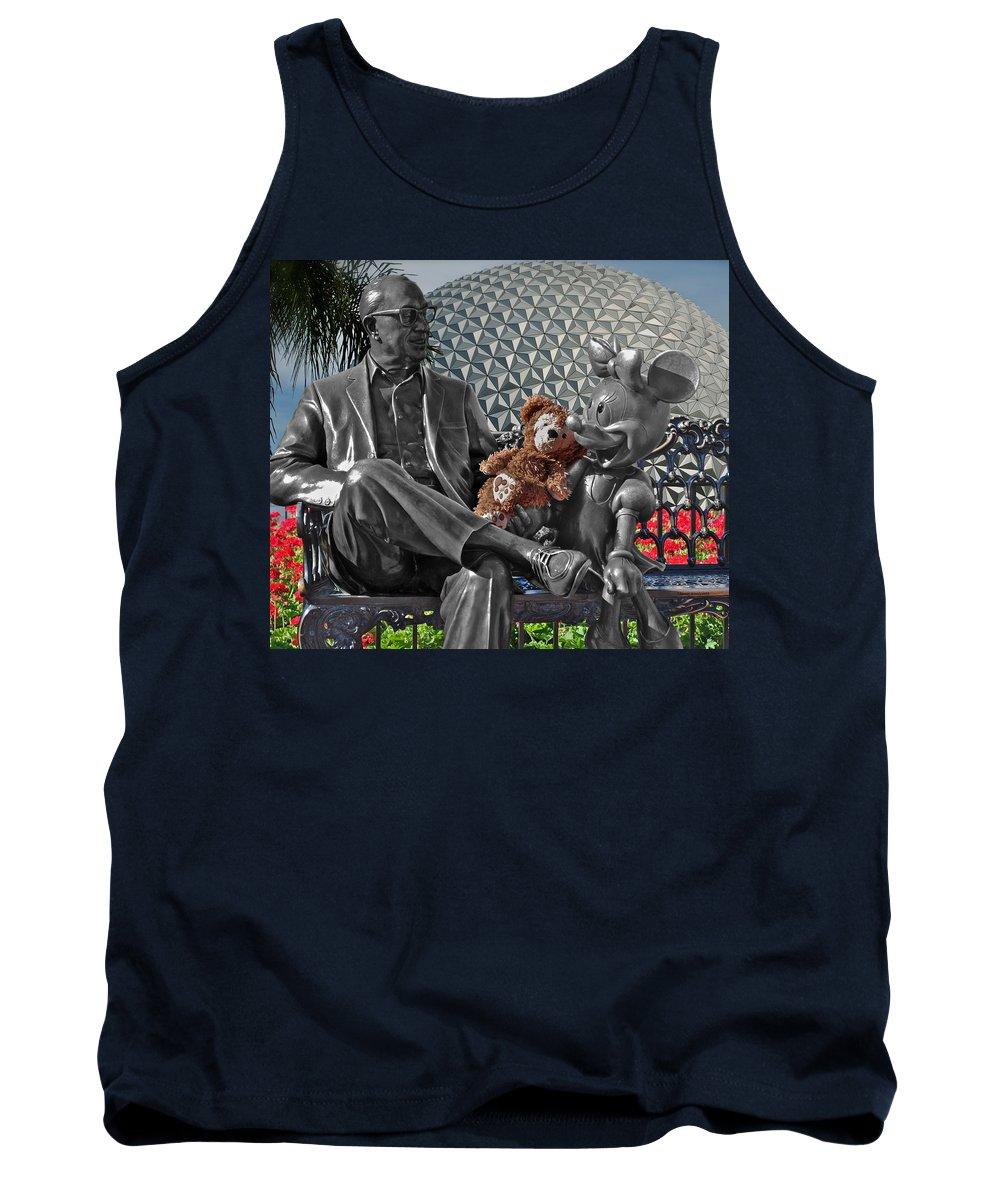 Fantasy Tank Top featuring the photograph Bear And His Mentors Walt Disney World 04 by Thomas Woolworth
