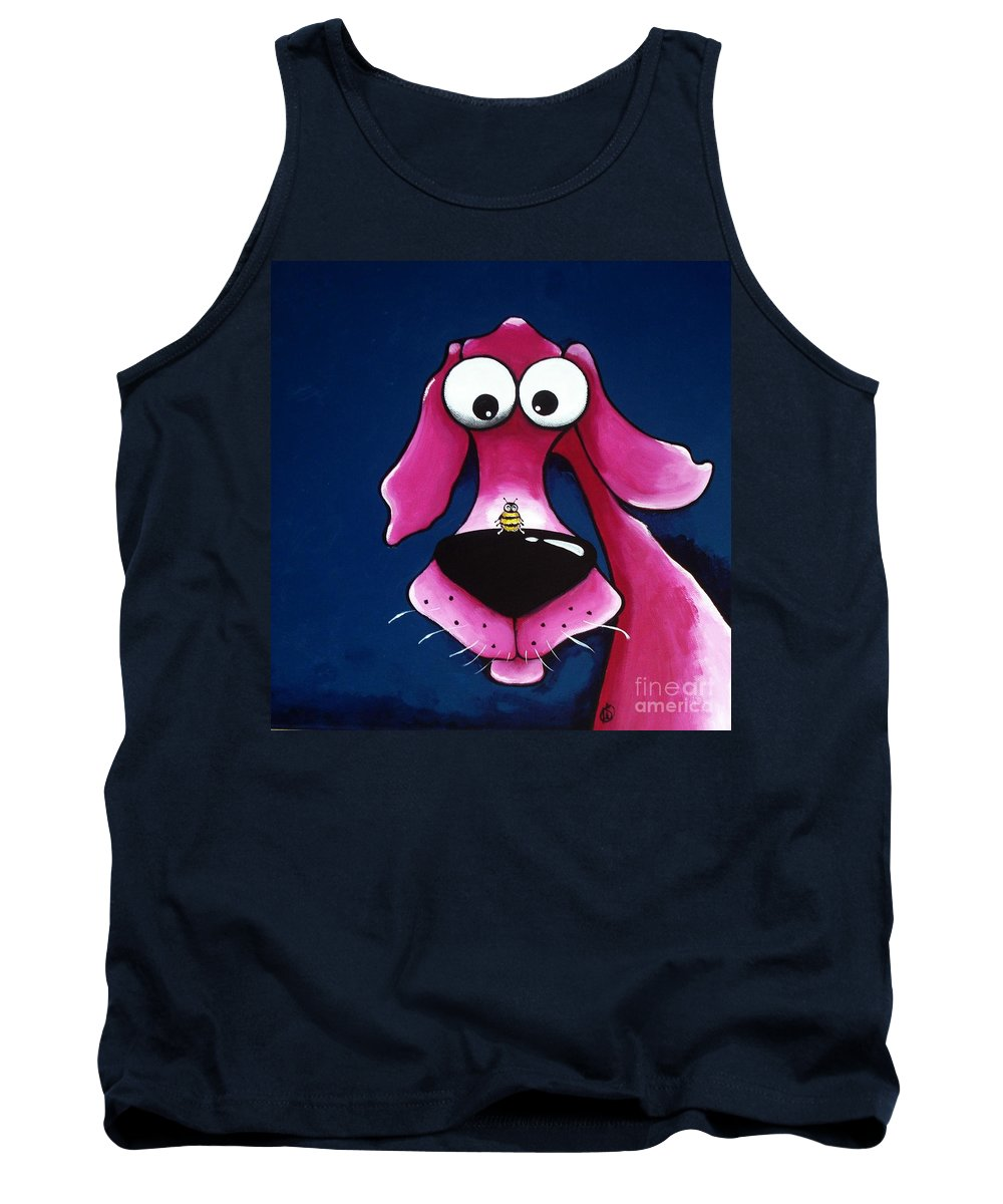 Pet Tank Top featuring the painting Beehave by Lucia Stewart