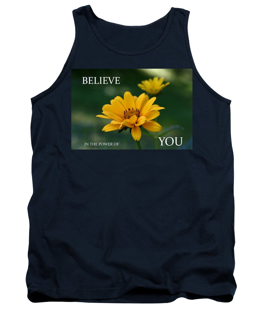 Inspirational Tank Top featuring the photograph Believe by Denyse Duhaime