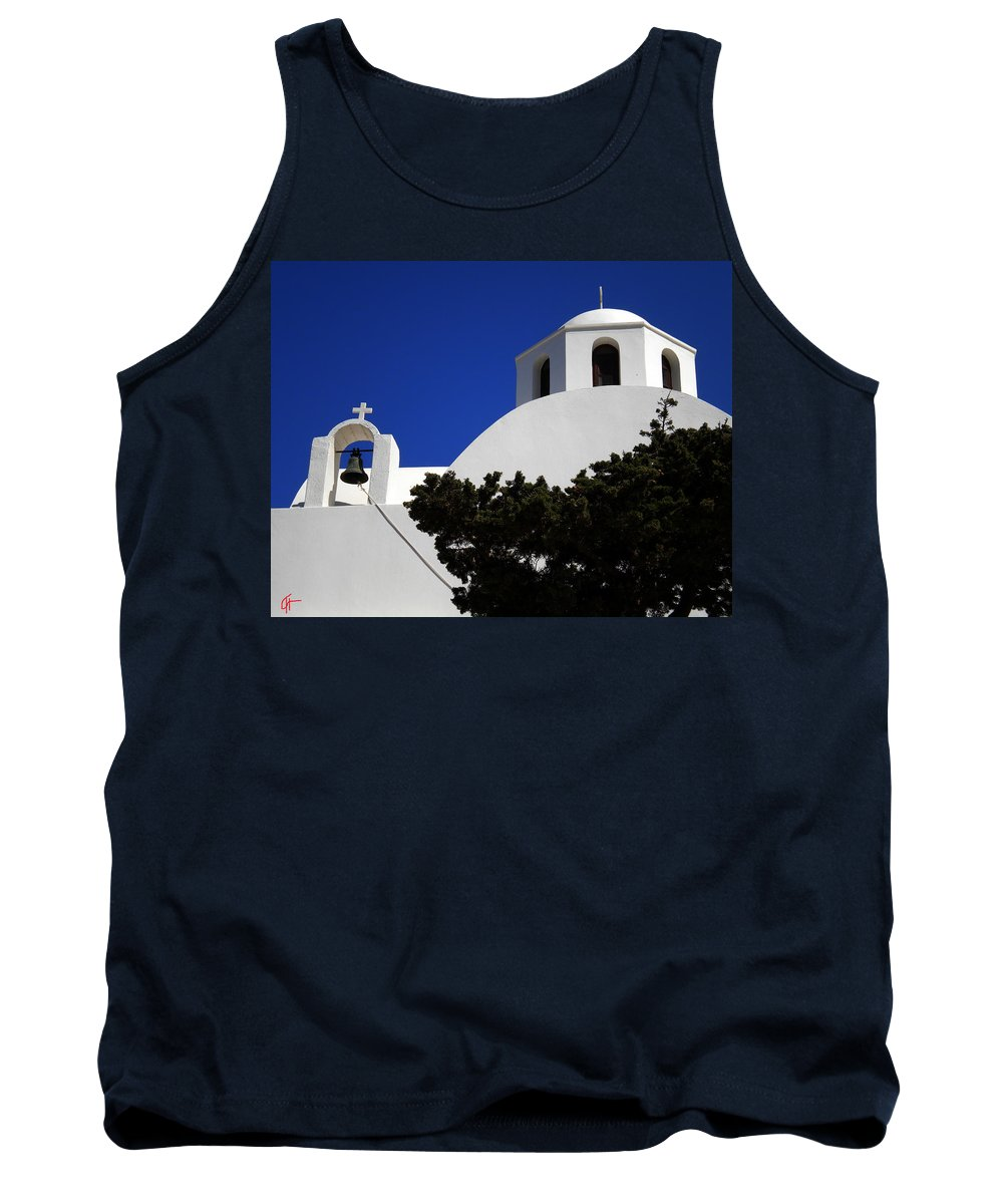 Colette Tank Top featuring the photograph Bella Santorini Island Church Greece by Colette V Hera Guggenheim