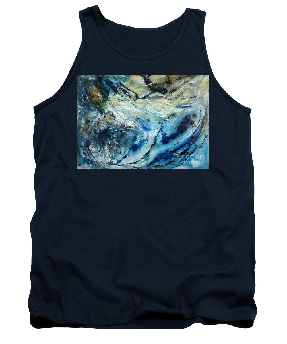 Abstract Tank Top featuring the painting Beneath The Surface by Valerie Travers