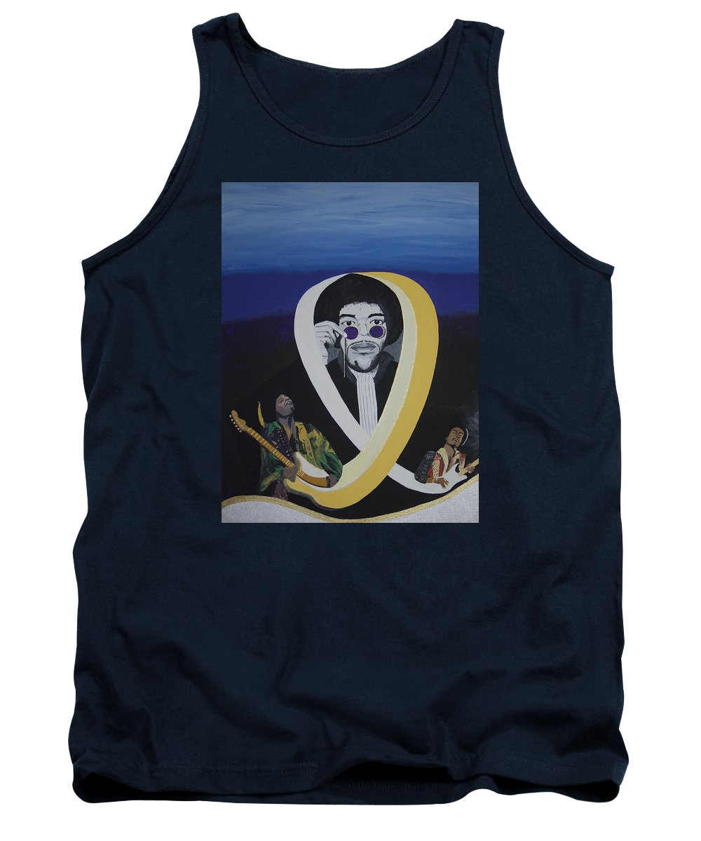 Memorable Tank Top featuring the painting Beyond The Haze by Dean Stephens