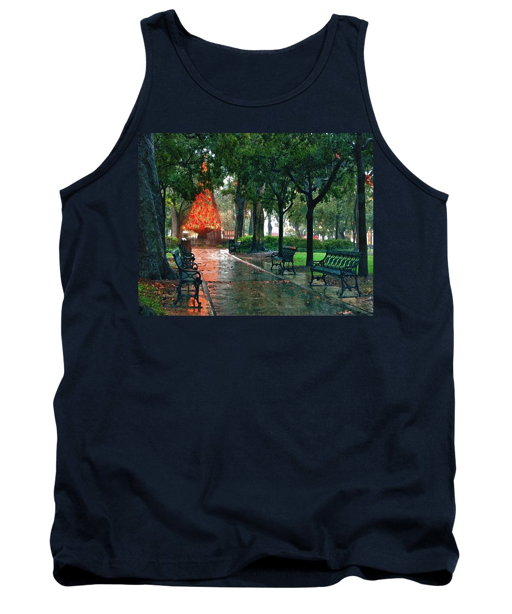 Alabama Tank Top featuring the digital art Bienville Christmas Tree by Michael Thomas