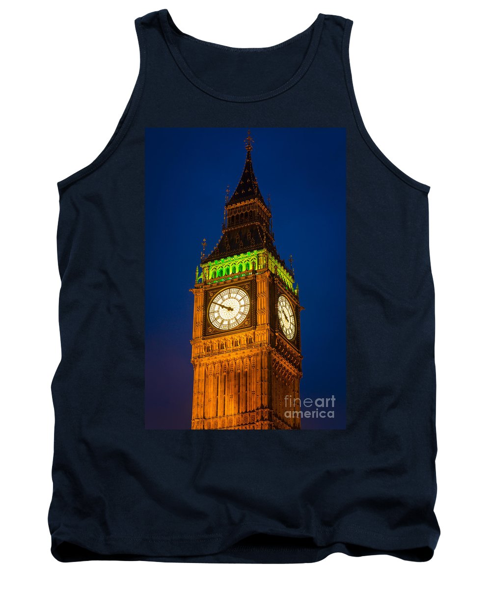 Big Ben Tank Top featuring the photograph Big Ben At Night by Inge Johnsson