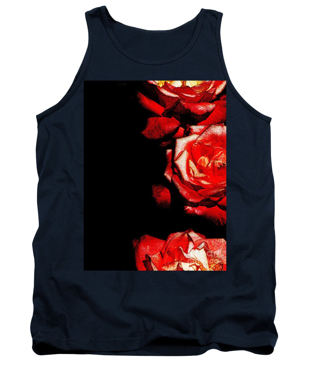 Ron Tackett Photography Tank Top featuring the photograph Black And Rose by Ron Tackett