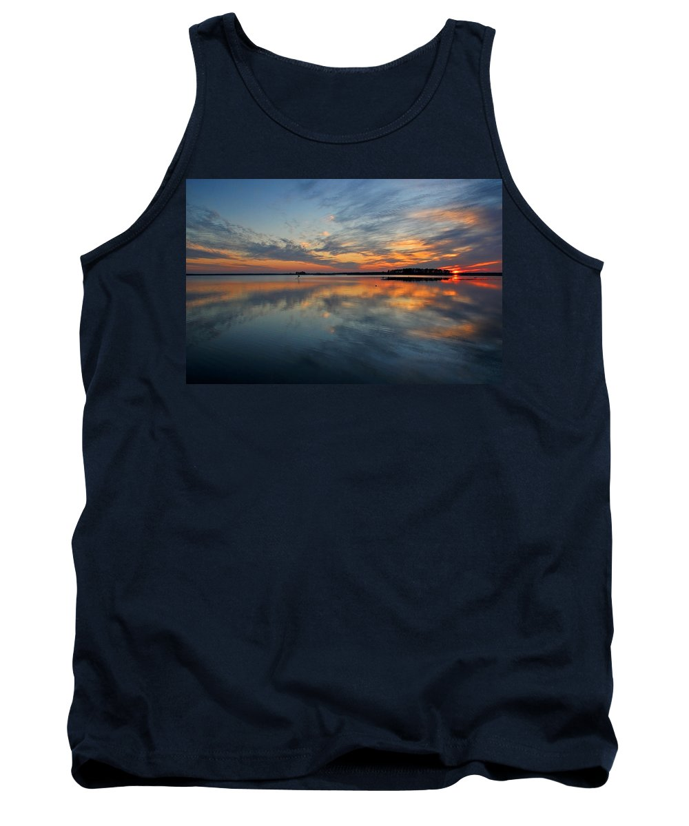 Blackwater Tank Top featuring the photograph Blackwater Reflection by Michael Sims