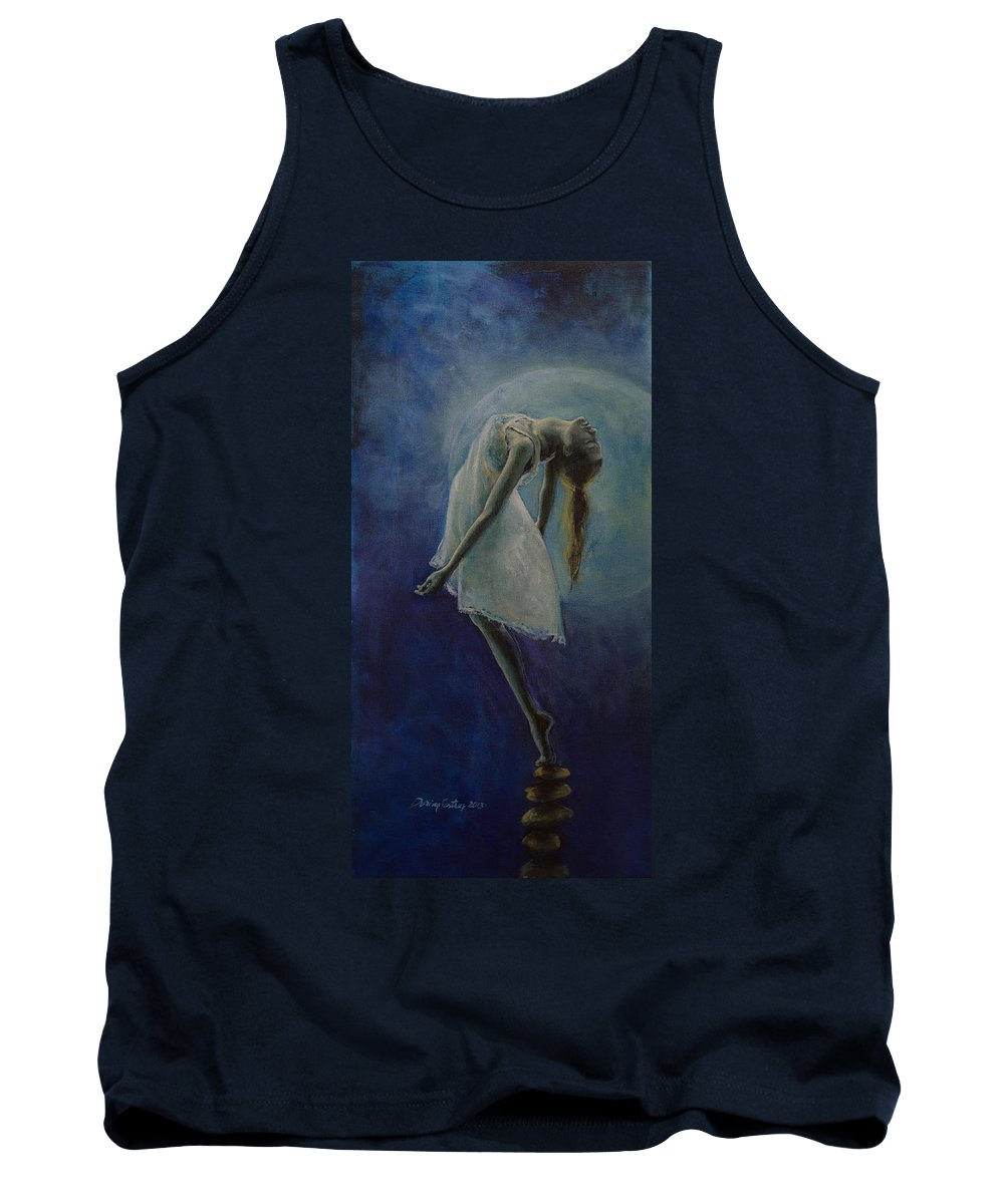 Meditation Tank Top featuring the painting Bliss by Dorina Costras