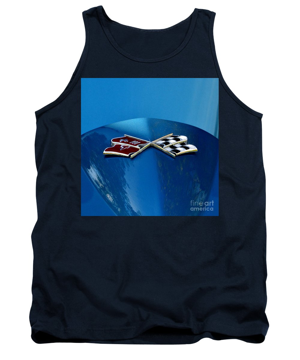 Tank Top featuring the photograph Blue Corvette by Dean Ferreira
