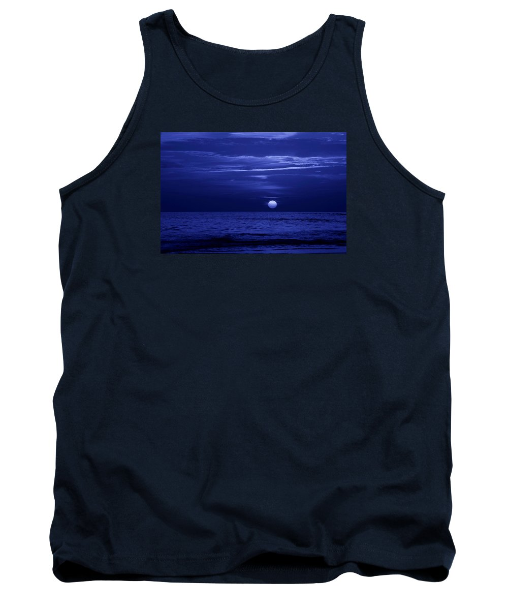 Panama City Beach Tank Top featuring the photograph Blue Sunset by Sandy Keeton