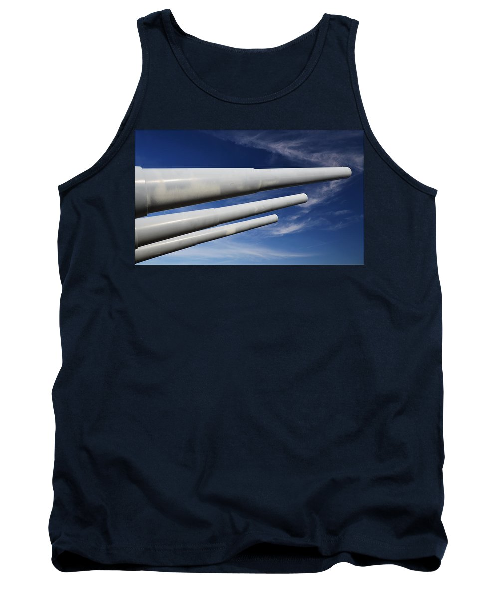 Blue Tank Top featuring the photograph Blue Versus Grey by Richard Booth