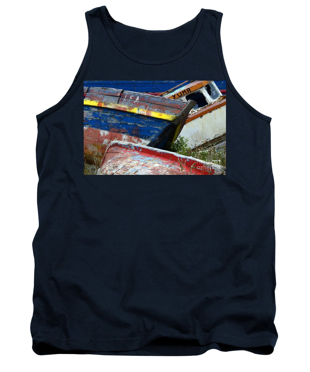 Boat Tank Top featuring the photograph Boat Graveyard Peurto Natales Chile 7 by Bob Christopher