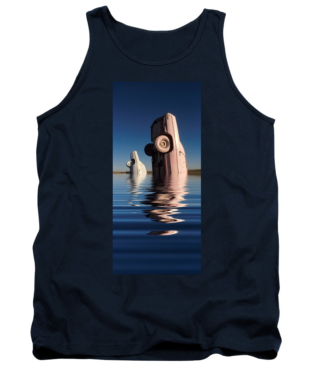 Cadillac Tank Top featuring the photograph Bobbing for Carburetors by Jerry McElroy