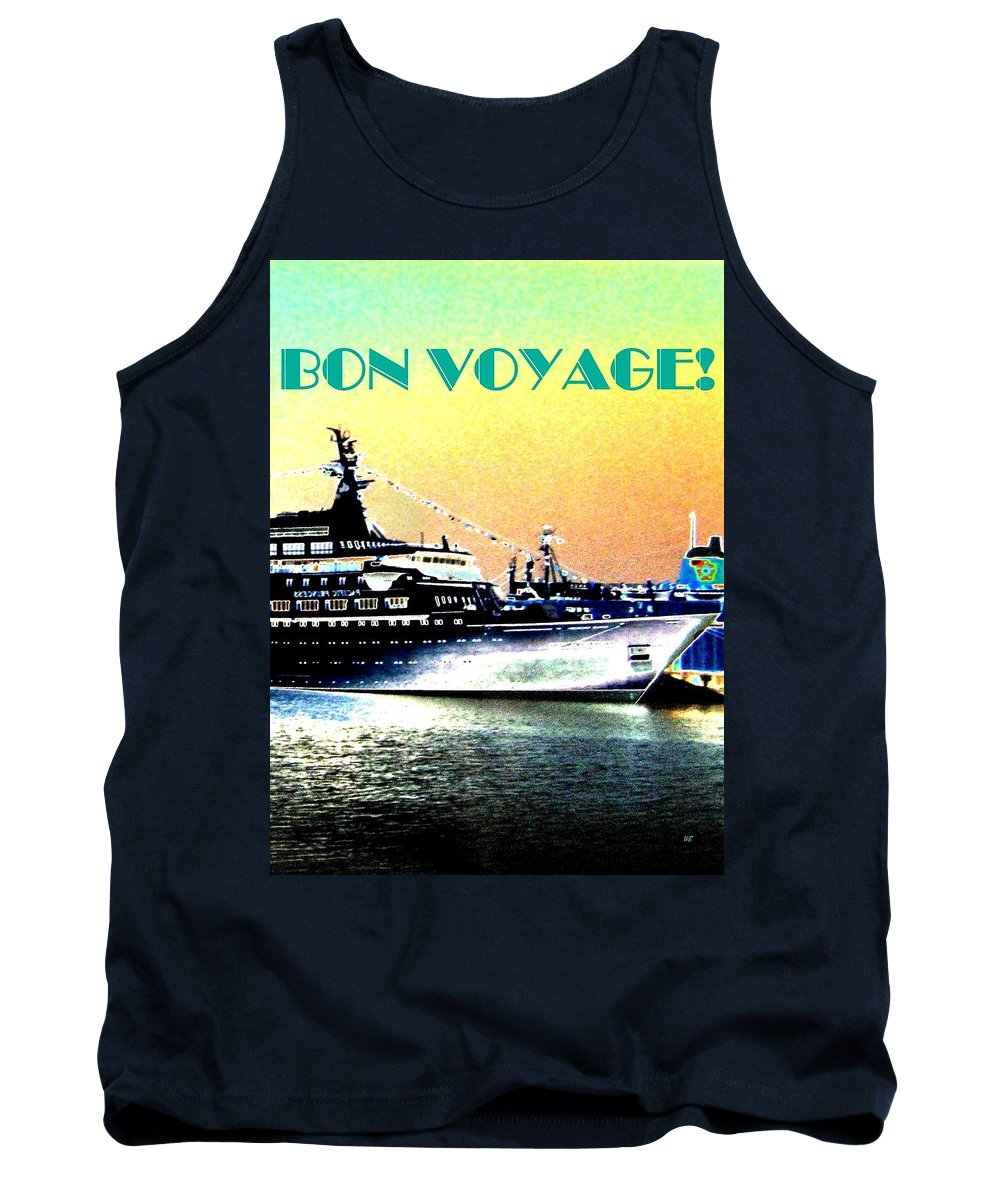 Bon Voyage Tank Top featuring the digital art Bon Voyage by Will Borden