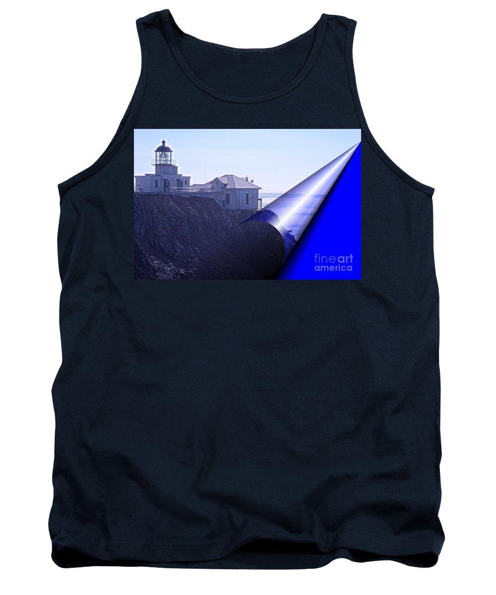 #bonita #lighthouse #san-francisco Tank Top featuring the photograph Bonita Lighthouse Landscape by Kathleen Struckle