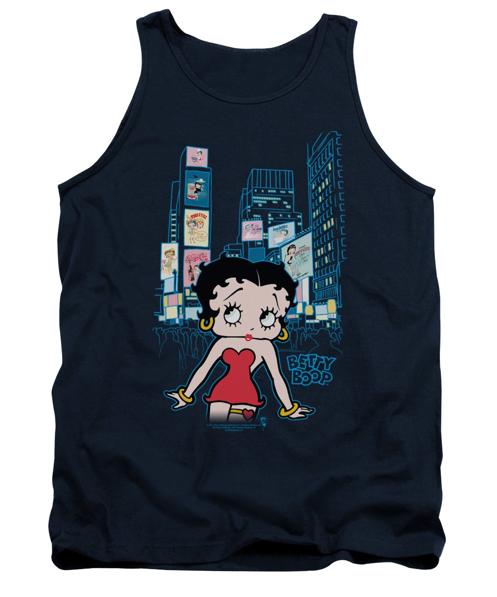 Betty Boop Tank Top featuring the digital art Boop - Square by Brand A