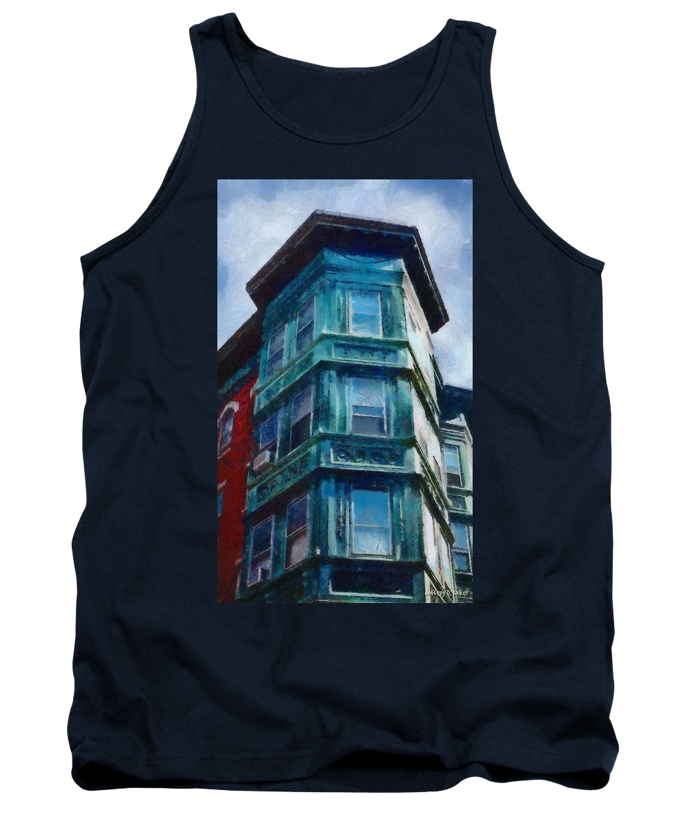 America Tank Top featuring the painting Boston's North End by Jeffrey Kolker