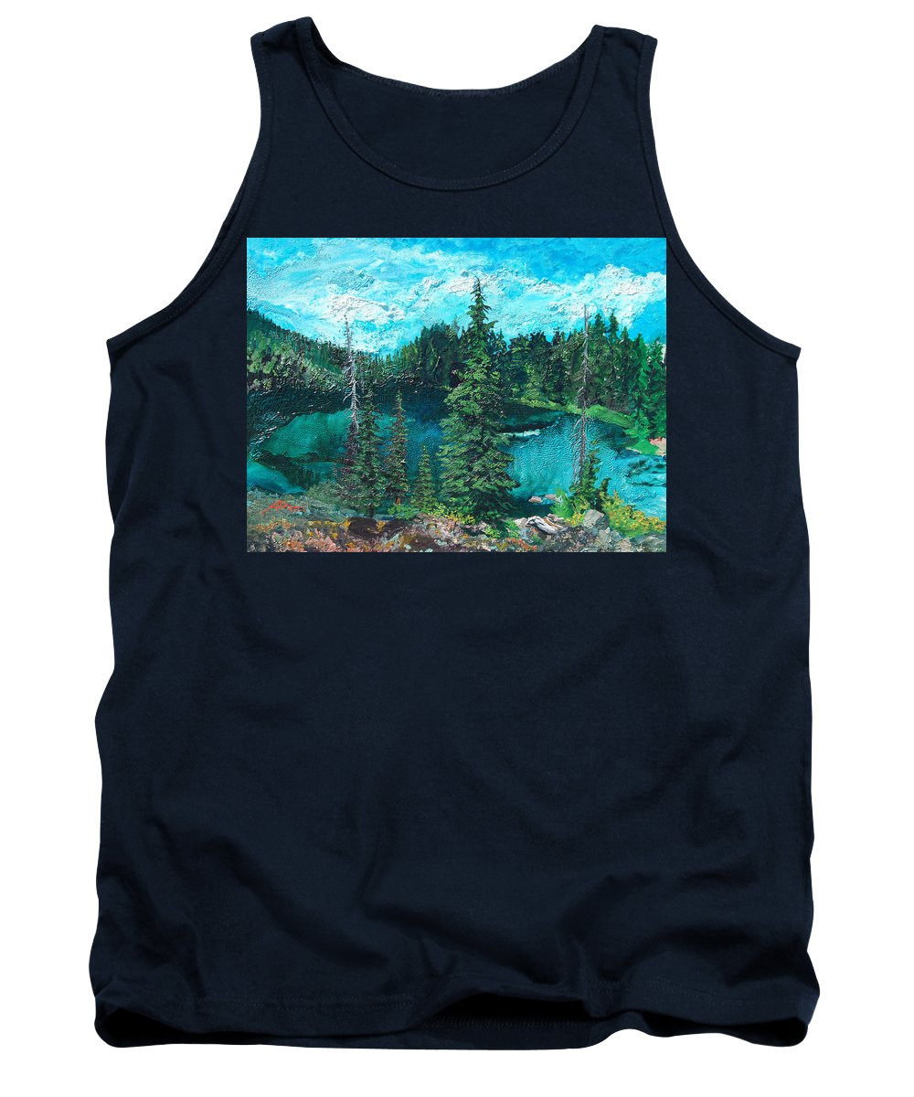 Buck Tank Top featuring the painting Buck Lake by Joseph Demaree