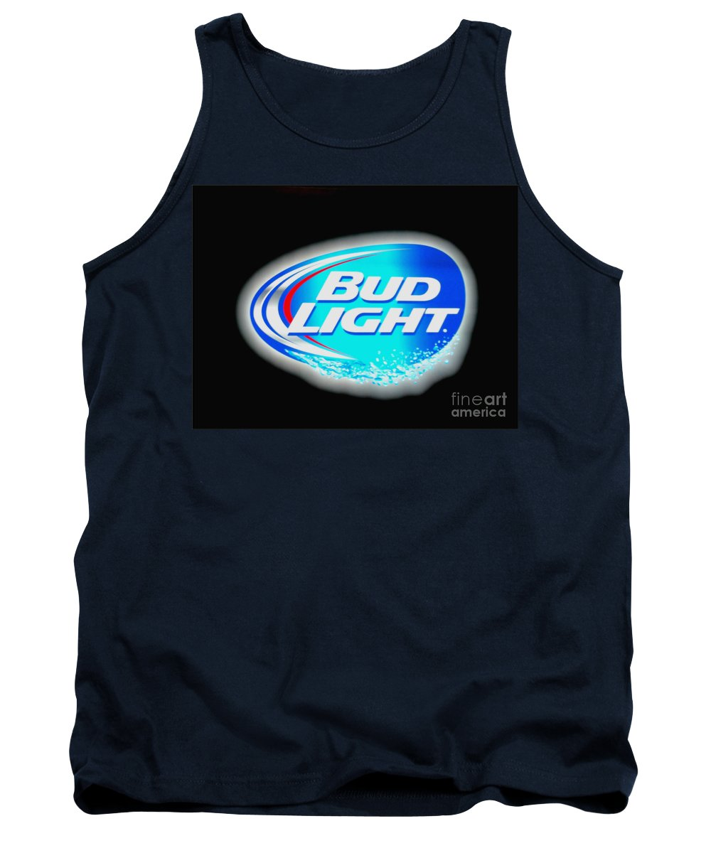 Tank Top featuring the photograph Bud Light Splash by Kelly Awad