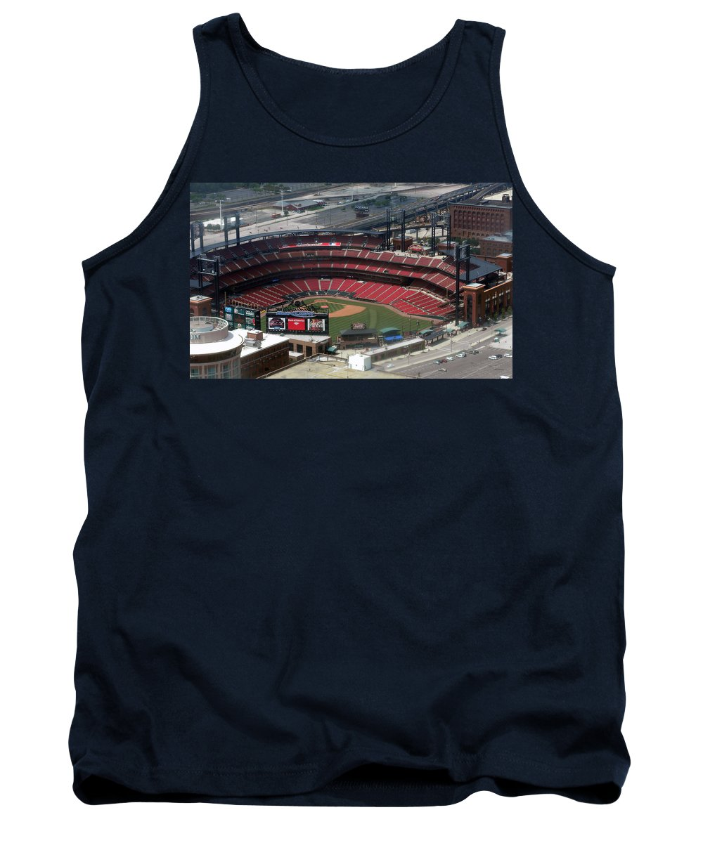 Panorama Tank Top featuring the photograph Busch Memorial Stadium by Thomas Woolworth