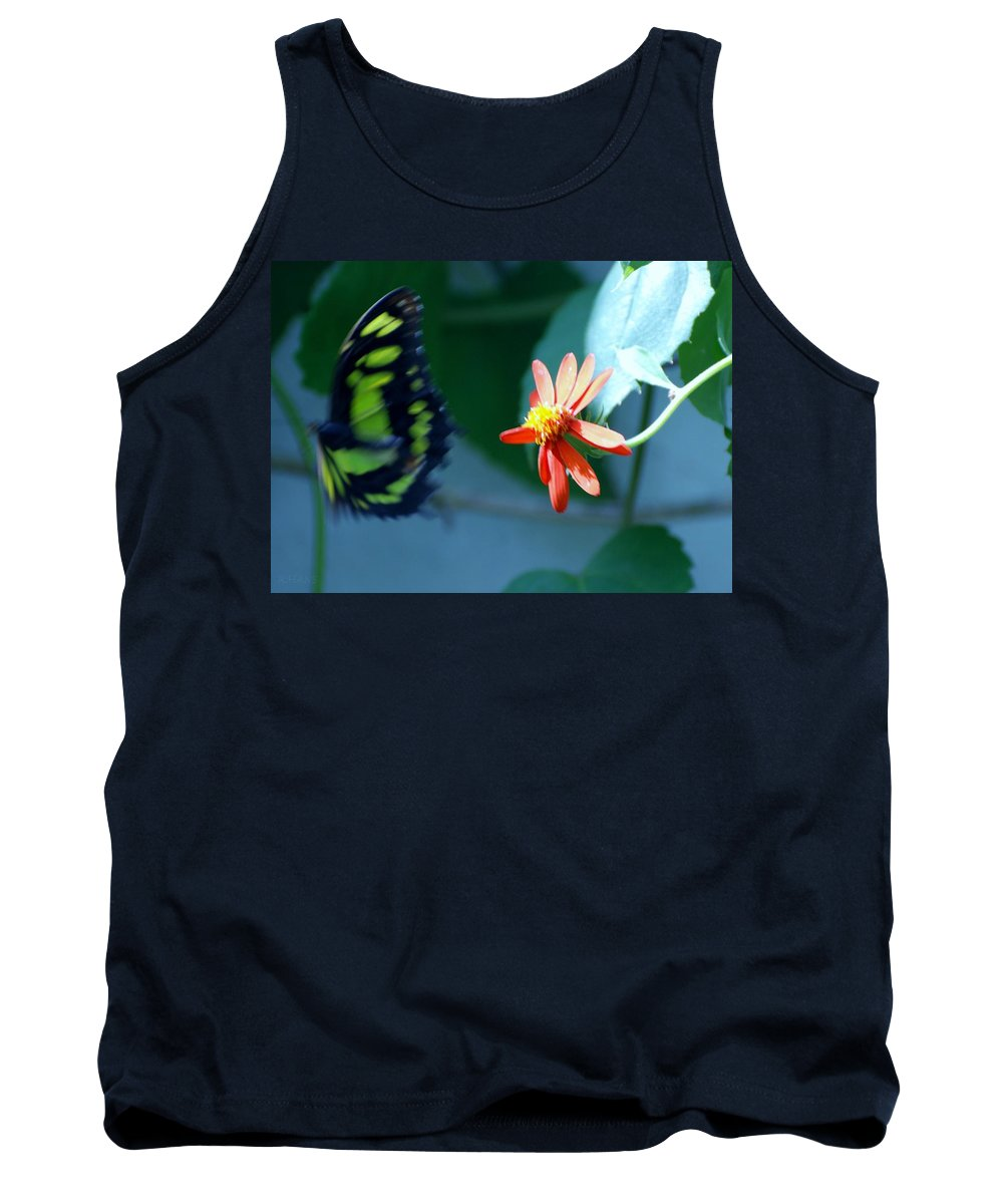 Lepidopterology Tank Top featuring the photograph Butterfly In Flight by Rob Hans