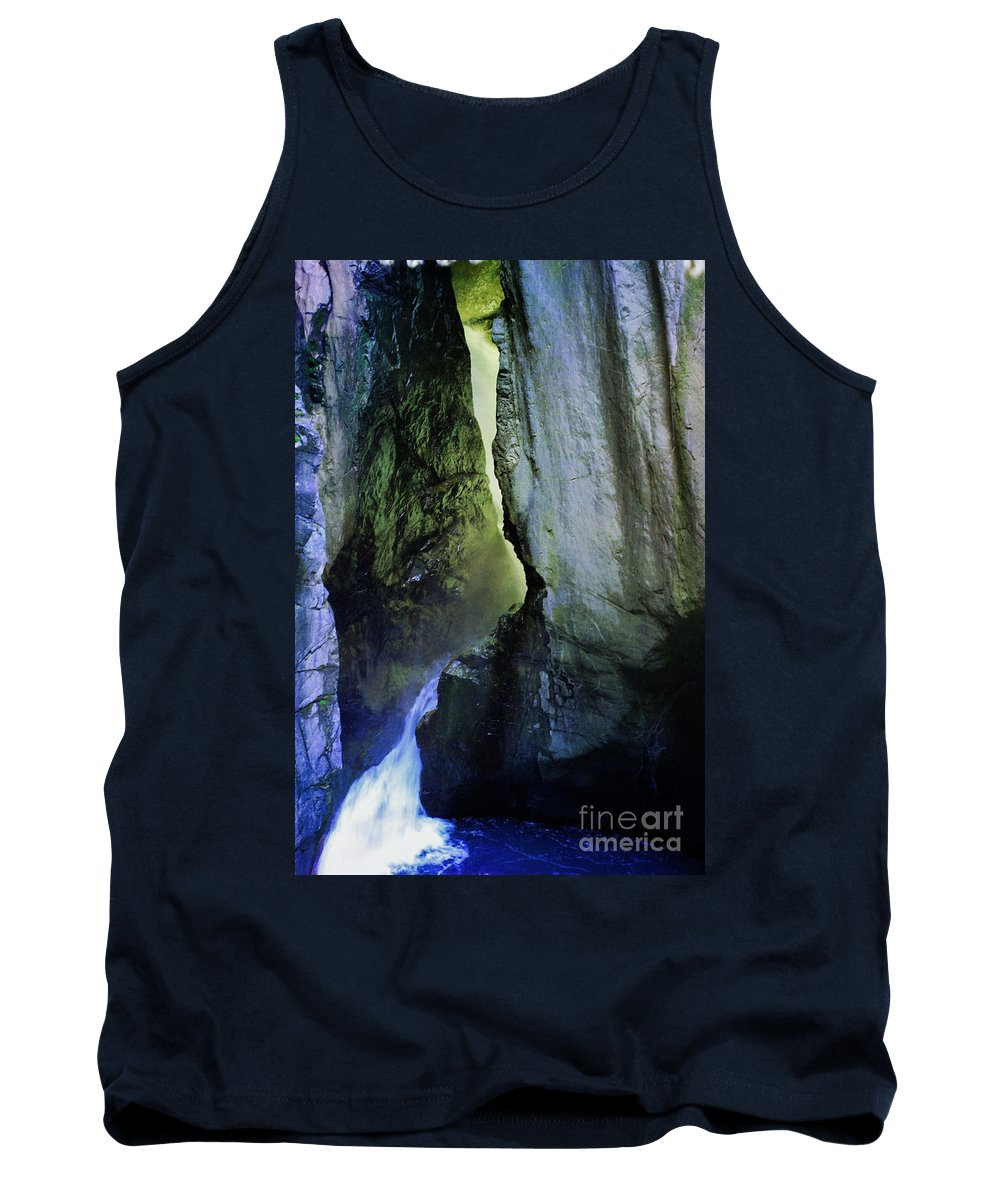 Stream Tank Top featuring the photograph Canyon Creek Narrows And Spills Thousands Of Gallons A Minute by Janice Pariza