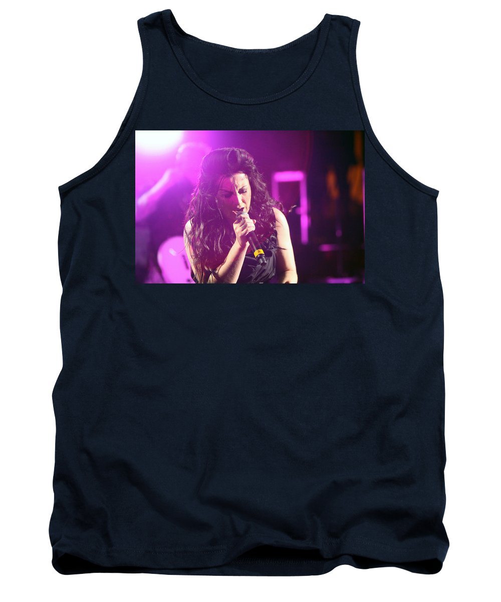 American Idol Tank Top featuring the photograph Carly On Stage by Shoal Hollingsworth