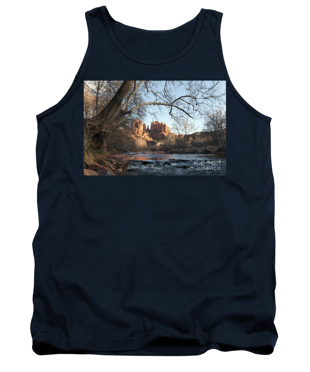 Horizontal Tank Top featuring the photograph Cathedral Rock From Red Rock Crossing On Oak Creek Arizona by Patrick McGill