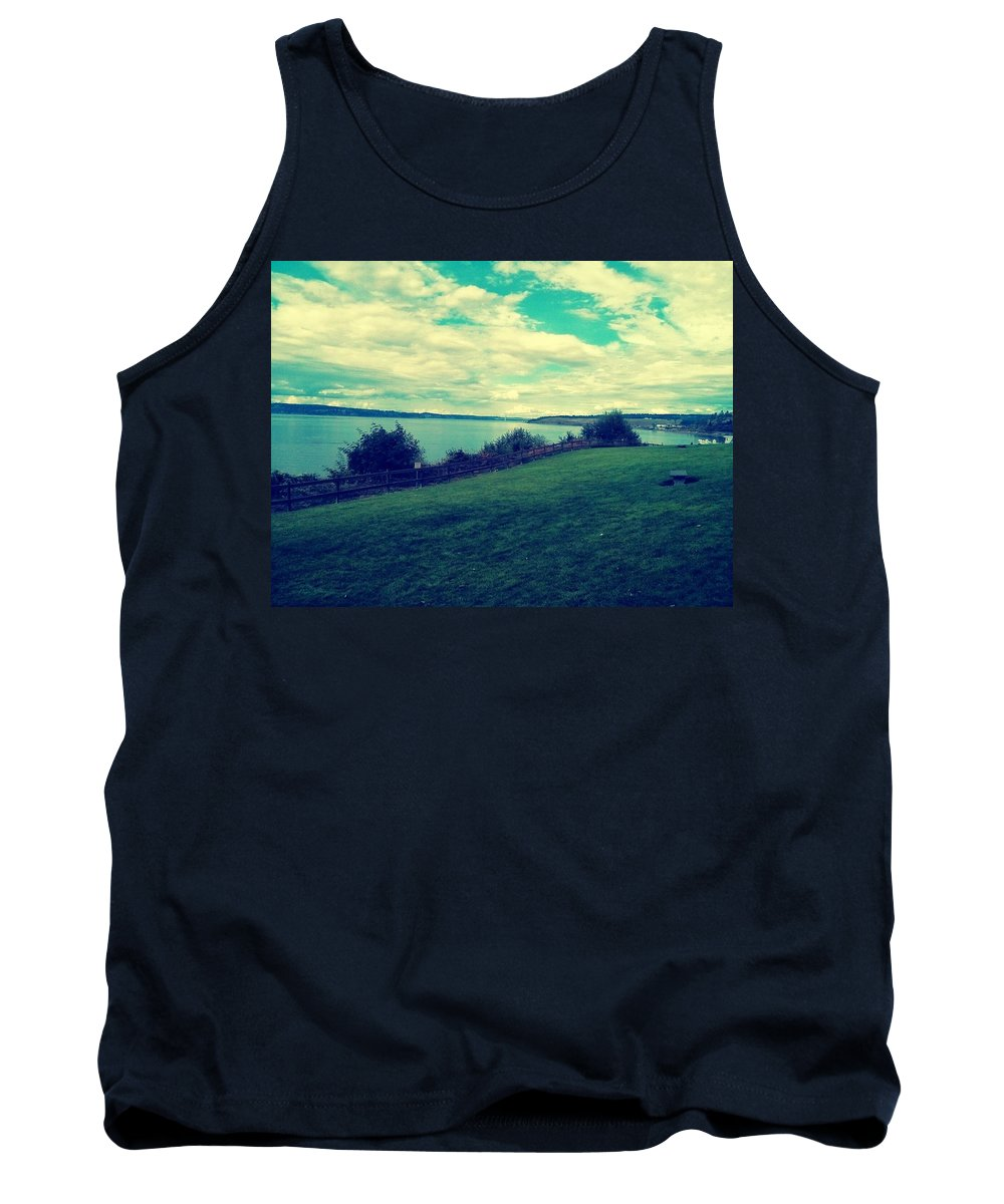Landscape Tank Top featuring the photograph Chambers Bay by Barbara Christensen