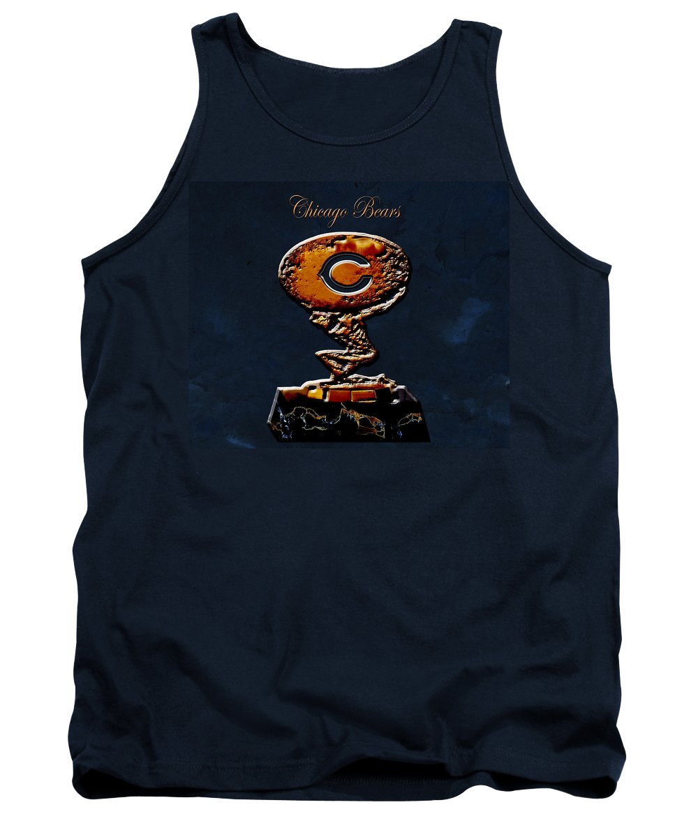 Chicago Bears Tank Top featuring the digital art Chicago Bears by Brian Reaves