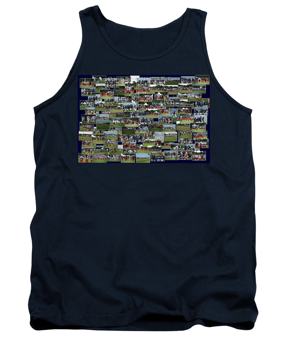 Chicago Bears Tank Top featuring the photograph Chicago Bears Training Camp 2014 Collage The Players by Thomas Woolworth