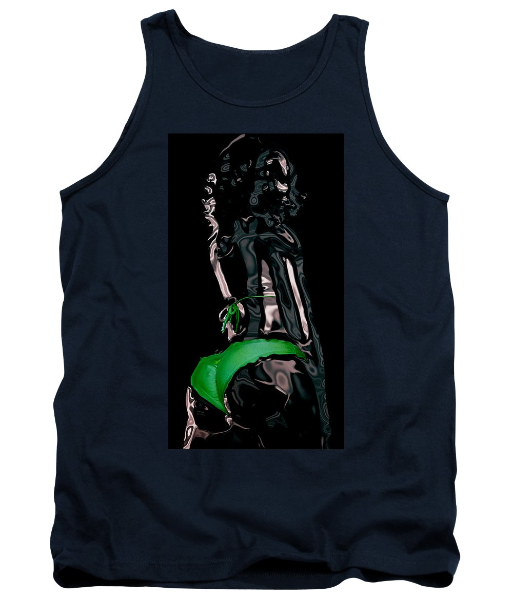 Model Tank Top featuring the digital art My Chrome Assets by Brian Reaves
