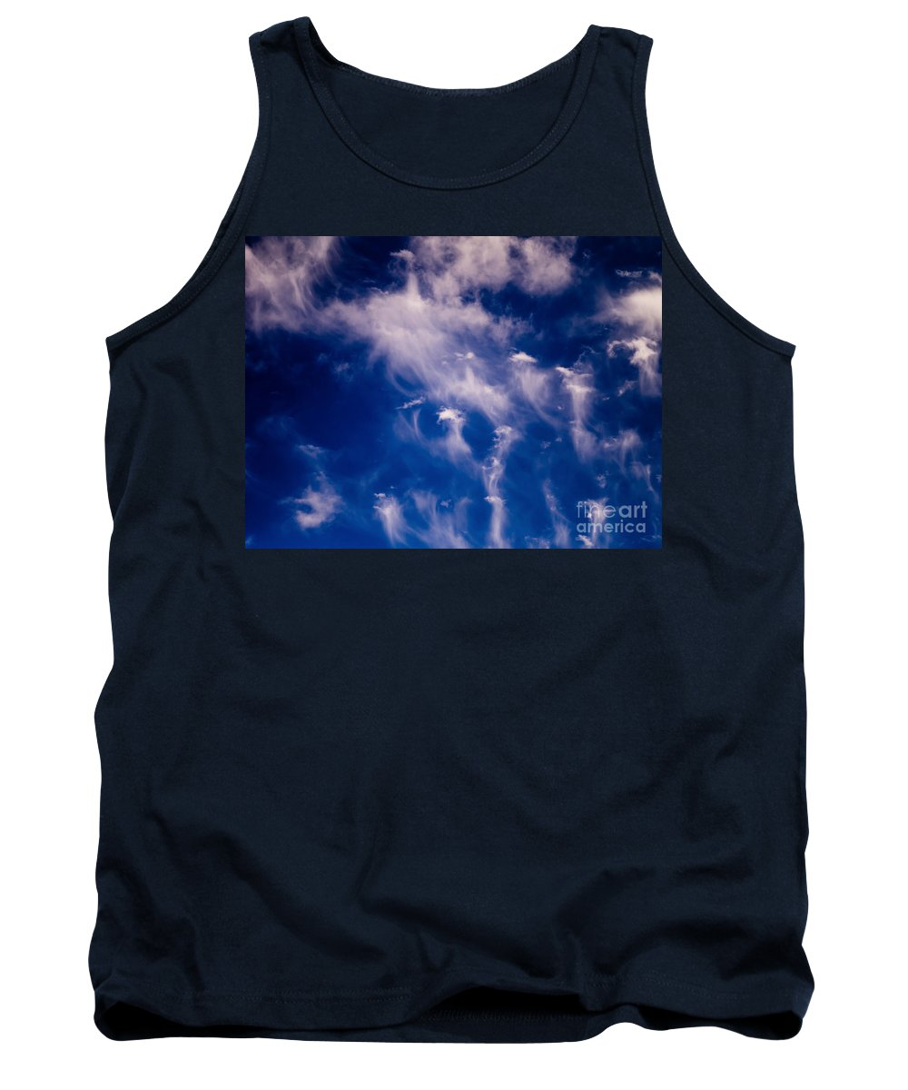 Cirrus Uncinus Clouds Tank Top featuring the photograph Cirrus Uncinus Clouds 11 by Tracy Knauer