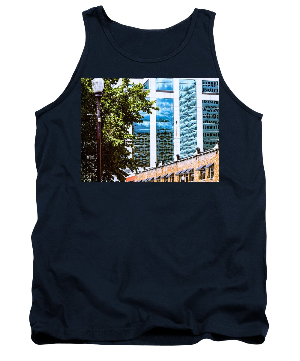Urban Colour Tank Top featuring the photograph City Center -67 by David Fabian