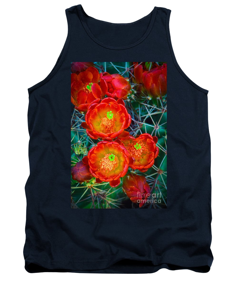 America Tank Top featuring the photograph Claret Cup by Inge Johnsson