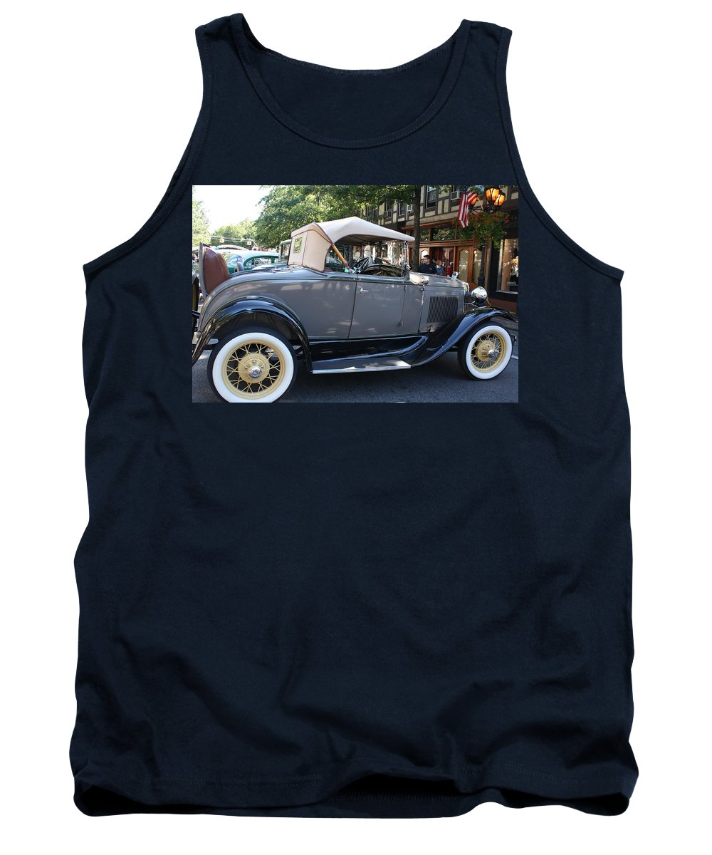 Playing Tank Top featuring the photograph Classic Antique Car - Ford 1920s by Dora Sofia Caputo Photographic Design and Fine Art