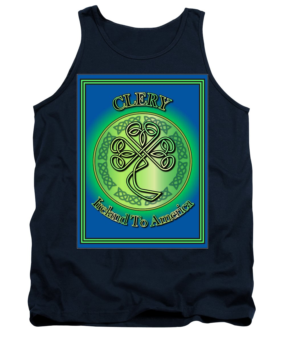 Clery Tank Top featuring the digital art Clery Ireland To America by Ireland Calling