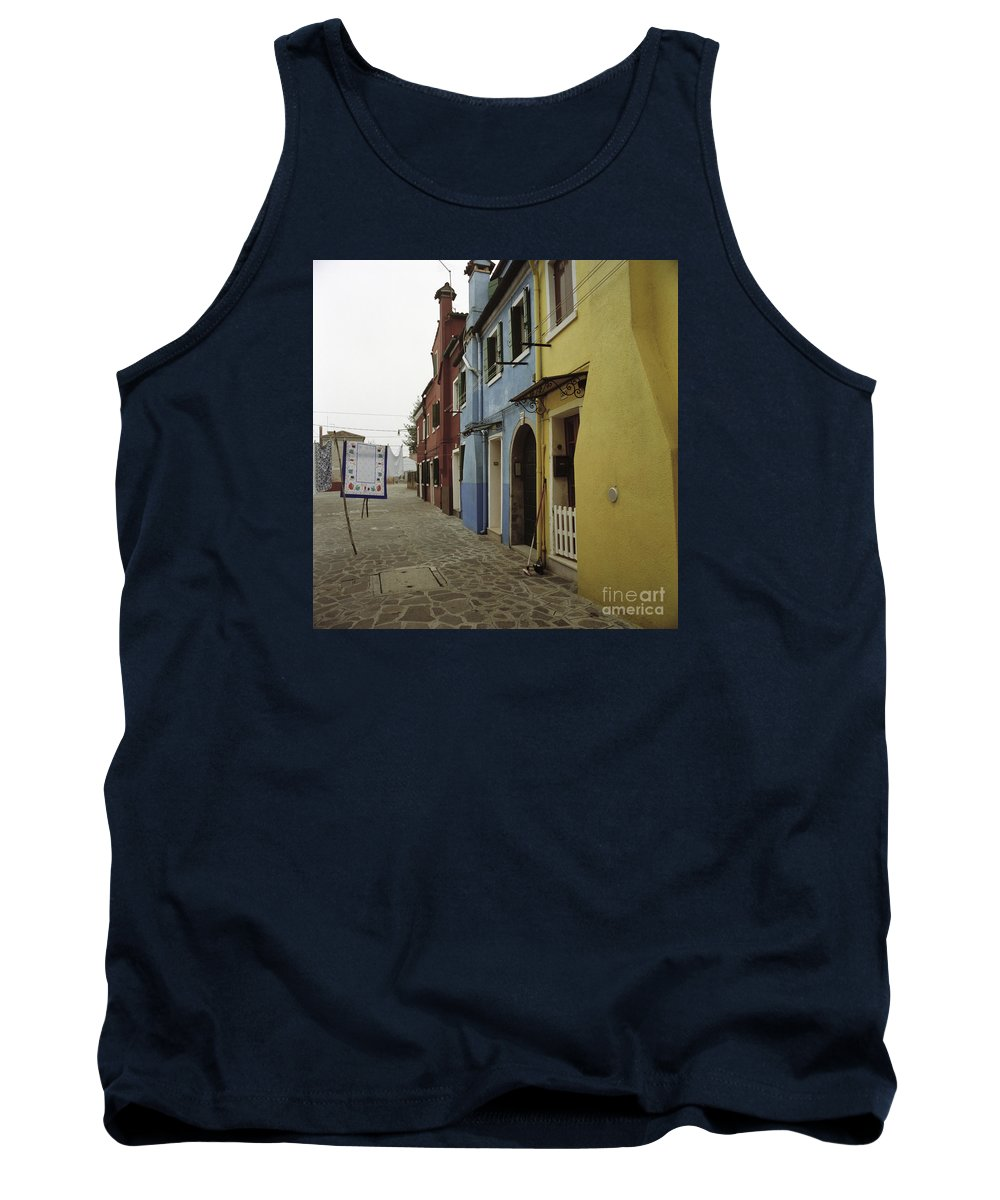 Venezia Tank Top featuring the photograph Coloured Houses In Burano by Riccardo Mottola