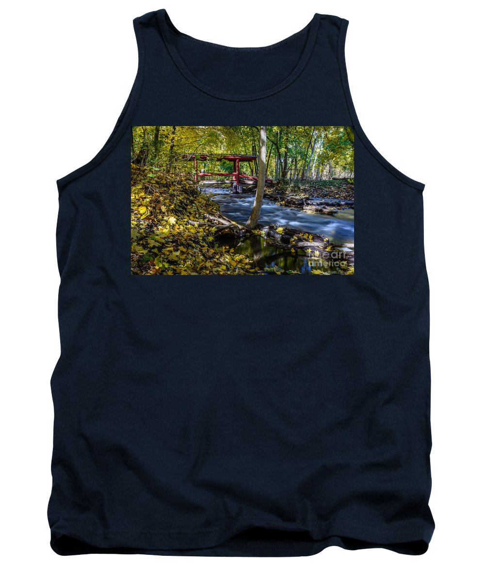 River Tank Top featuring the photograph Commerce Twp. Mill Race Park by Patrick Shupert