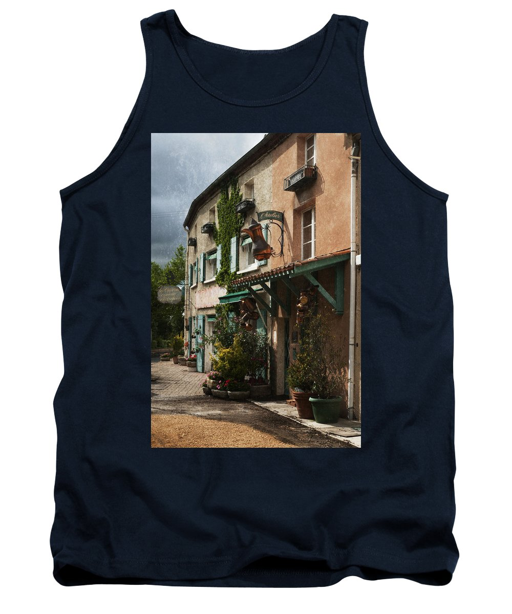 Copper Tank Top featuring the photograph Copper Sales Store Durfort France by Greg Kluempers