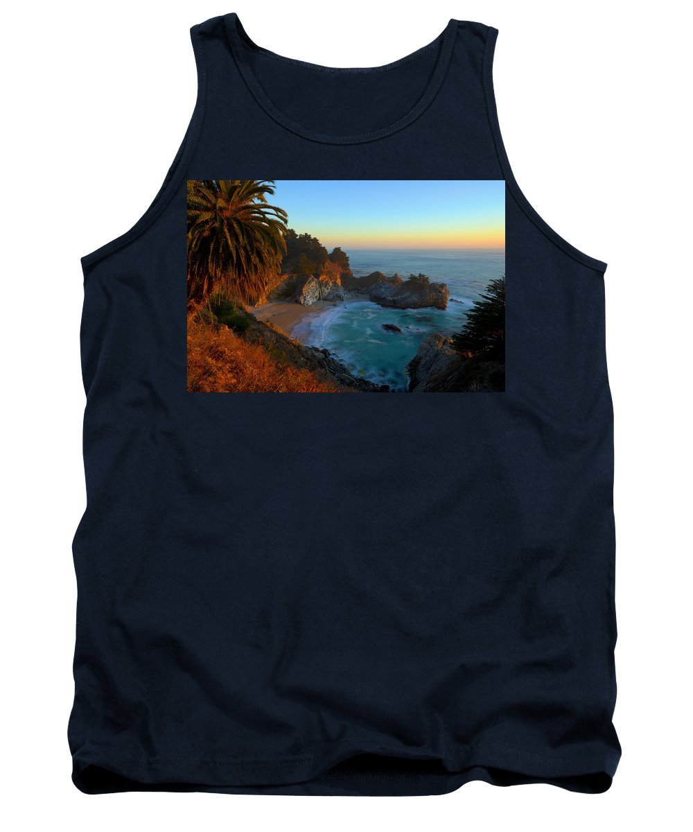 Mcway Falls Tank Top featuring the photograph Costal Paradise by Michael Sims