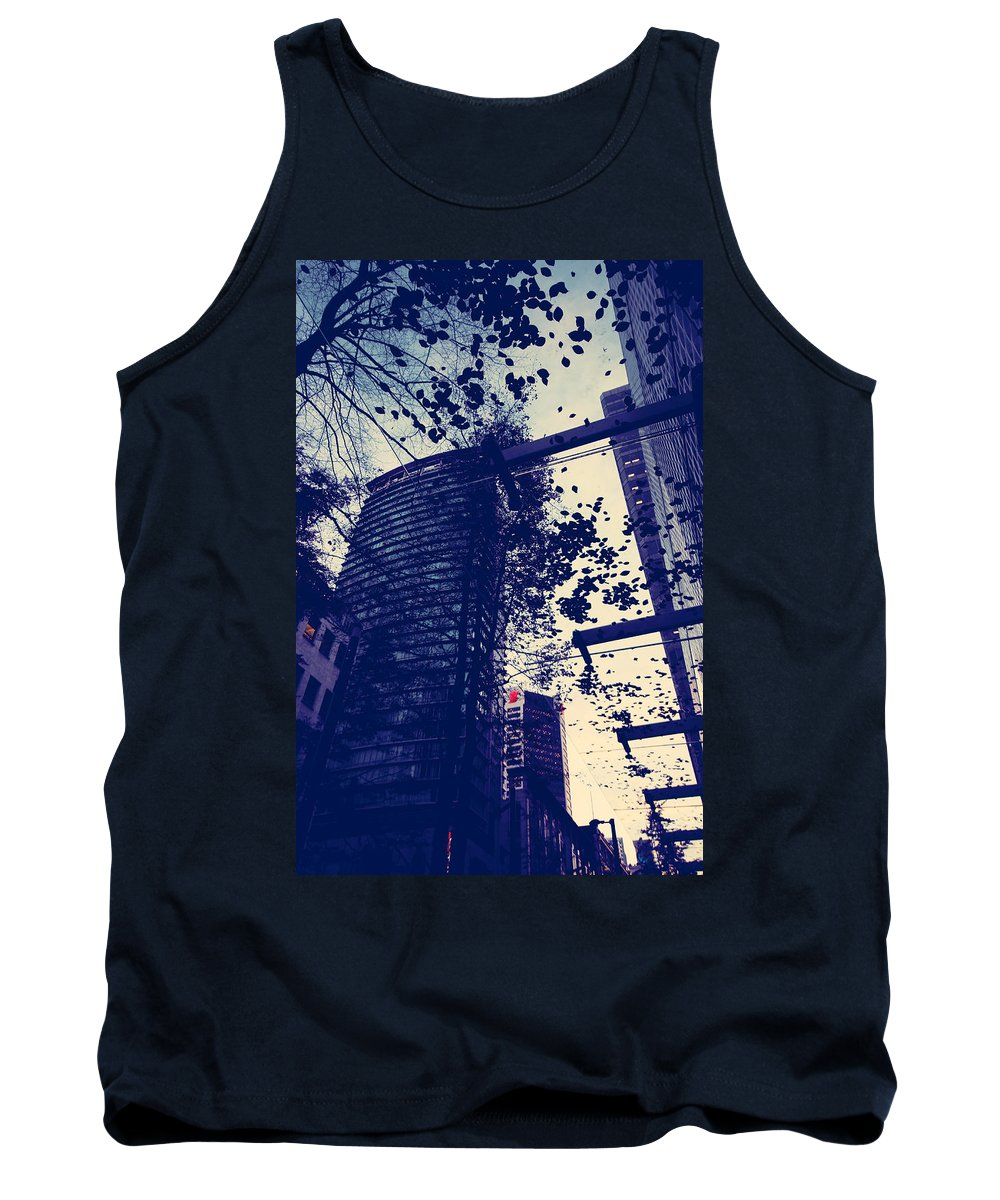 Abstract Tank Top featuring the photograph Country Smell City Stench by The Artist Project