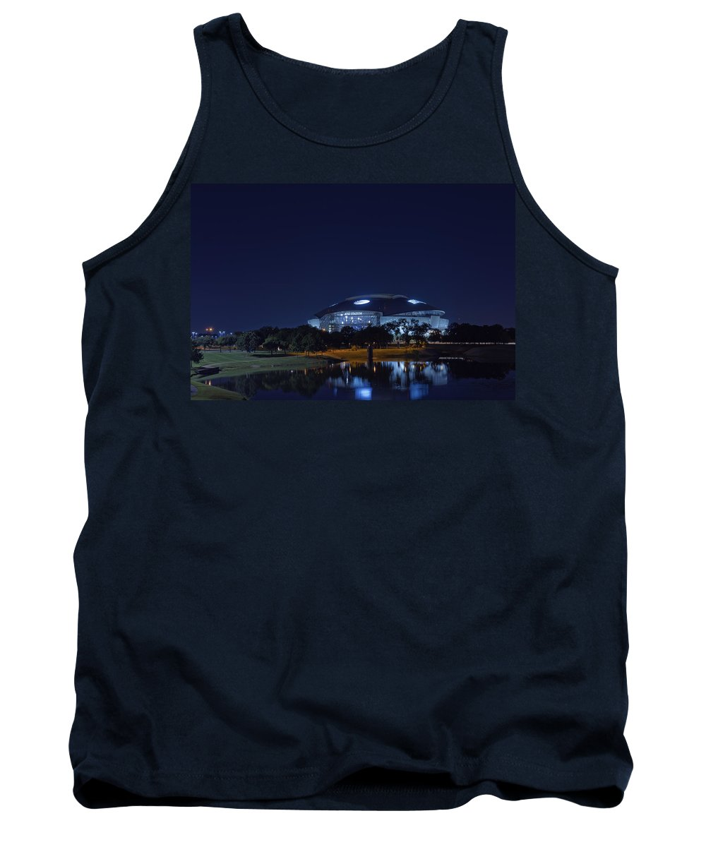 Dallas Cowboys Tank Top featuring the photograph Cowboys Stadium Game Night 1 by Jonathan Davison