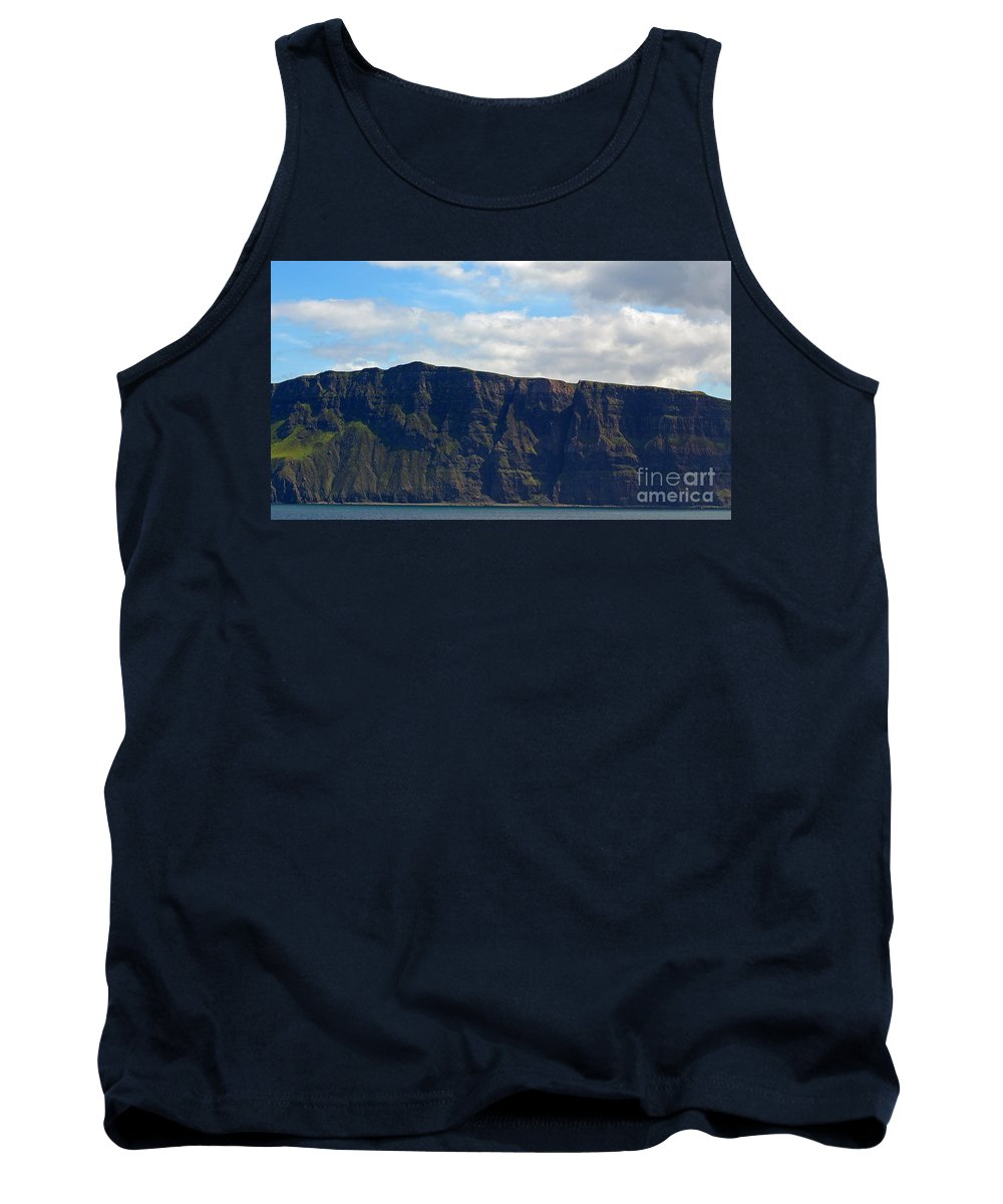 Scotland Tank Top featuring the photograph Craggy Coast 8 by Nancy L Marshall