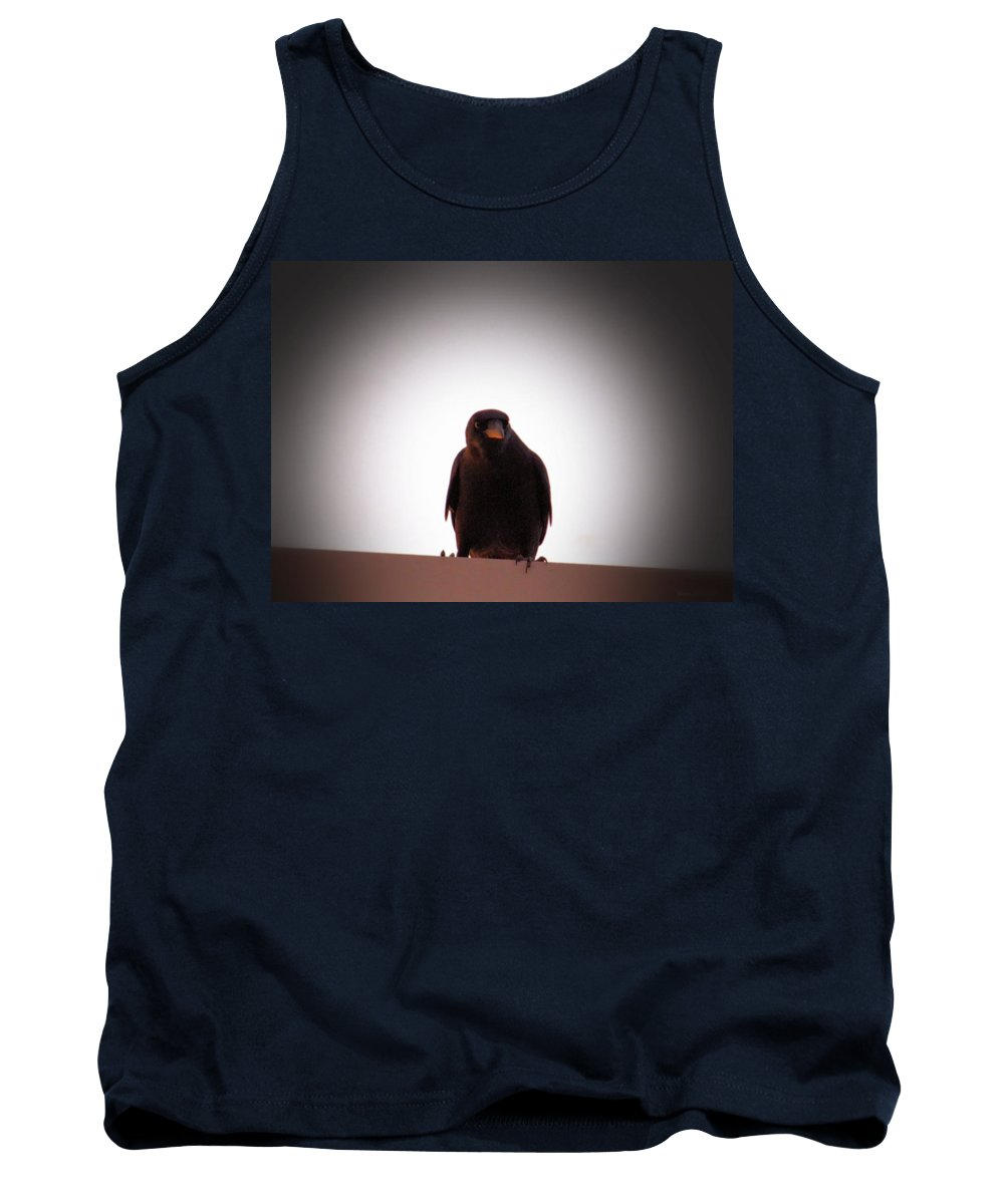 Crazy Crow Tank Top featuring the photograph Crazy Crow by Maria Urso