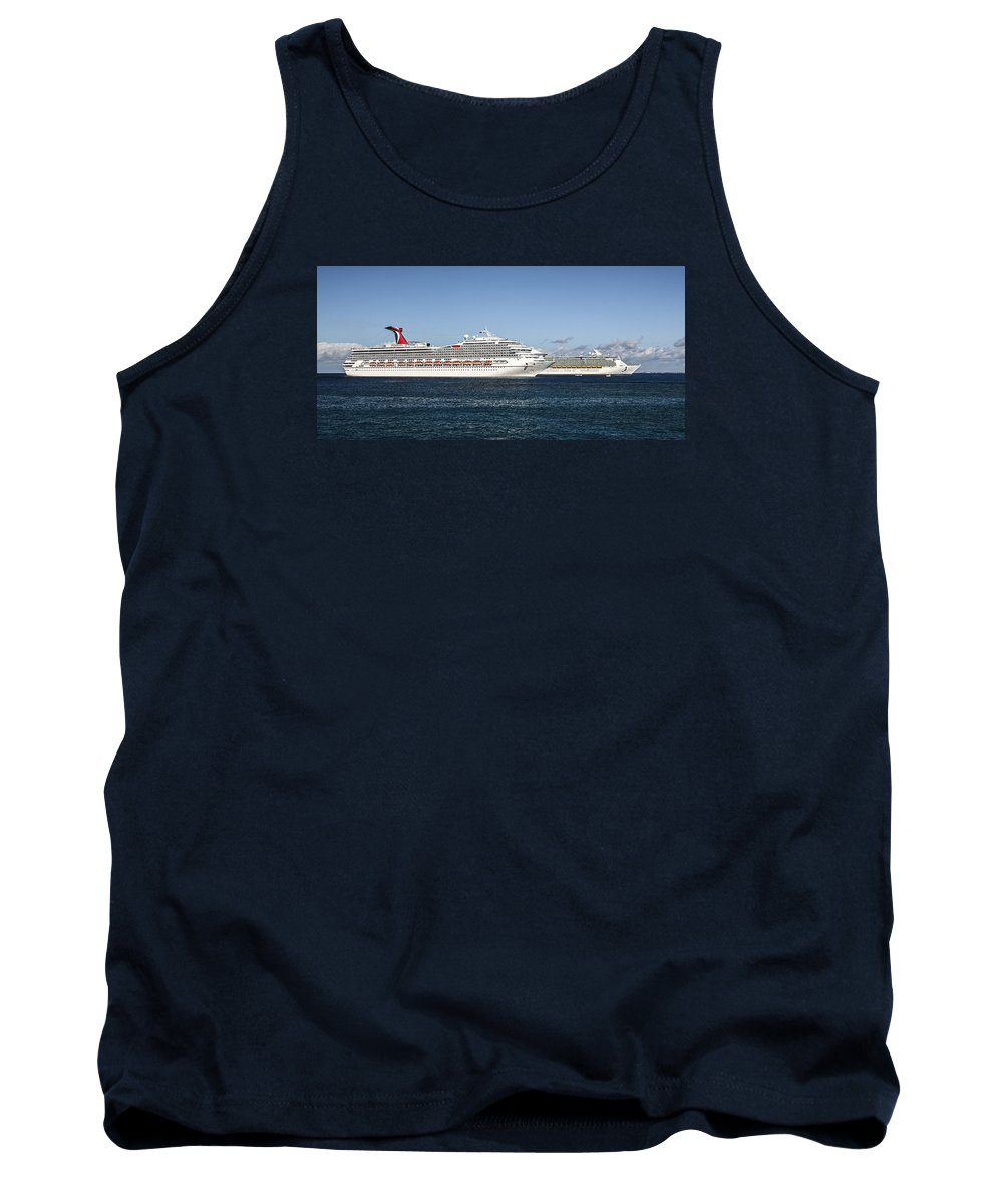 Cruse Ships Tank Top featuring the photograph Cruse Ships At Anchor by Eric Swan